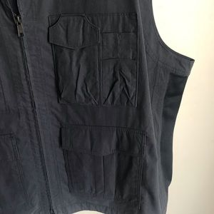 Duluth Trading Co Suits & Blazers - Duluth Trading Co Blue Gray Fishing Vest Size 3XL